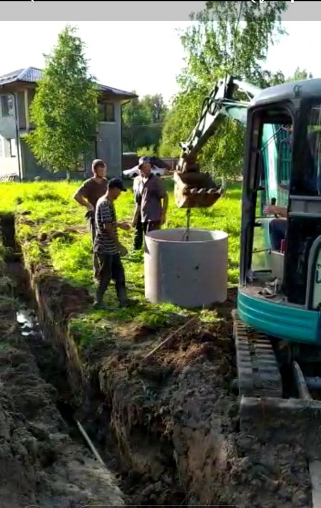 Услуги мини экскаватора. Копаем дренаж на участке и устанавливаем колодца (кольца). Все это можно успеть за 1 смену.  Звоните: 8-926-388-99-44