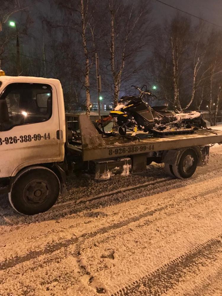 Эвакуация снегохода до г. Москва