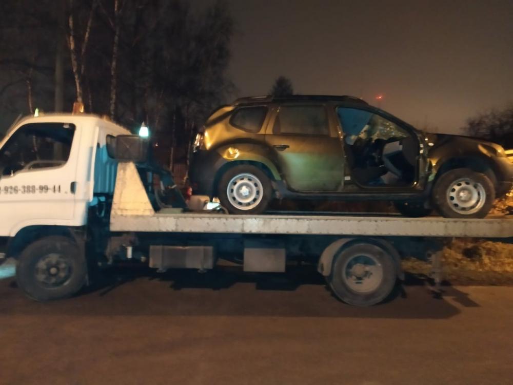 Эвакуация автомобиля ночная, Раменский район, д.Клишева