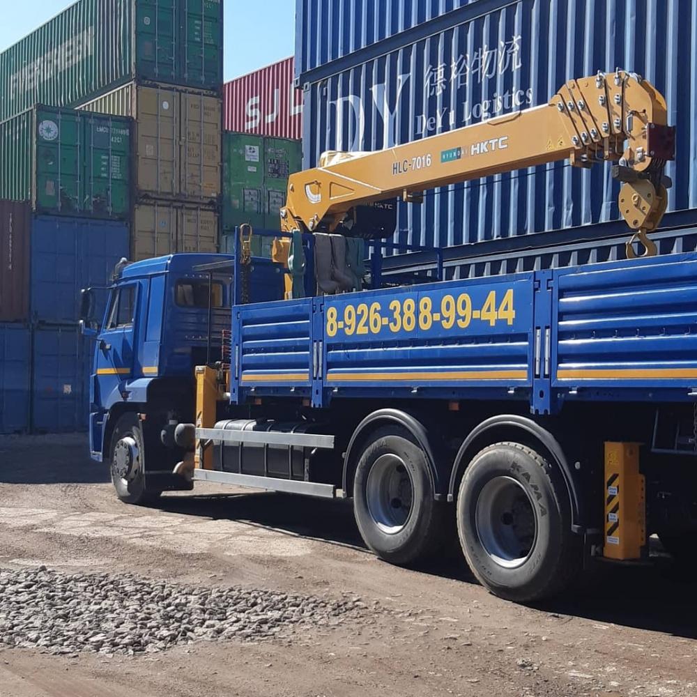 Услуги манипулятора КАМАЗ 11 тонн. Перевозка морского контейнера г.Дзержинский - Старниково
