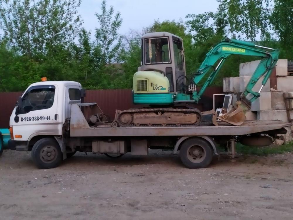 Транспортировка экскаватора до места работы с Быково, Раменский район.